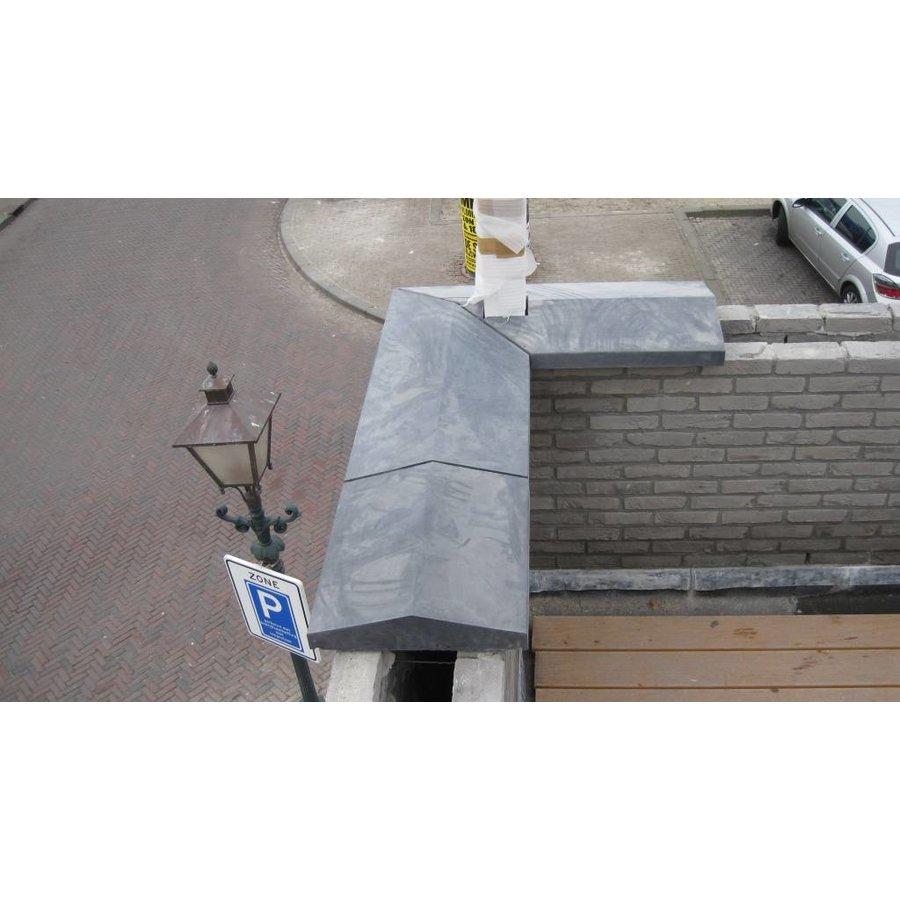 Muurafdekkers 2-zijdig, antraciet 17cm x 100cm