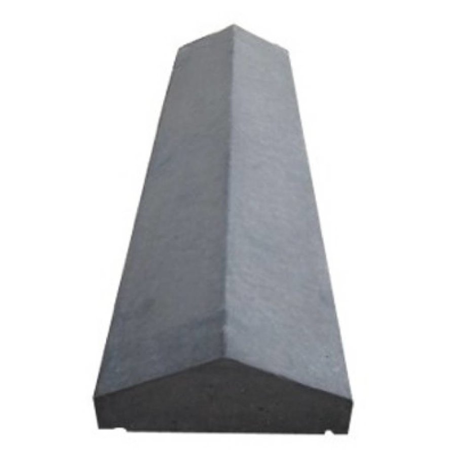 Muurafdekkers 2-zijdig, antraciet 30cm x 100cm