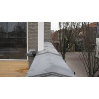 Muurafdekkers 2-zijdig, antraciet 37cm x 100cm