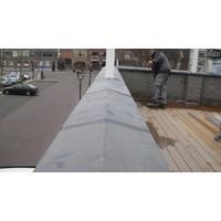 Muurafdekkers 2-zijdig, antraciet 42cm x 100cm