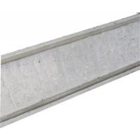 Muurafdekkers vlak, grijs 17cm x 100cm