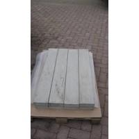 Muurafdekkers vlak, grijs 39cm x 100cm