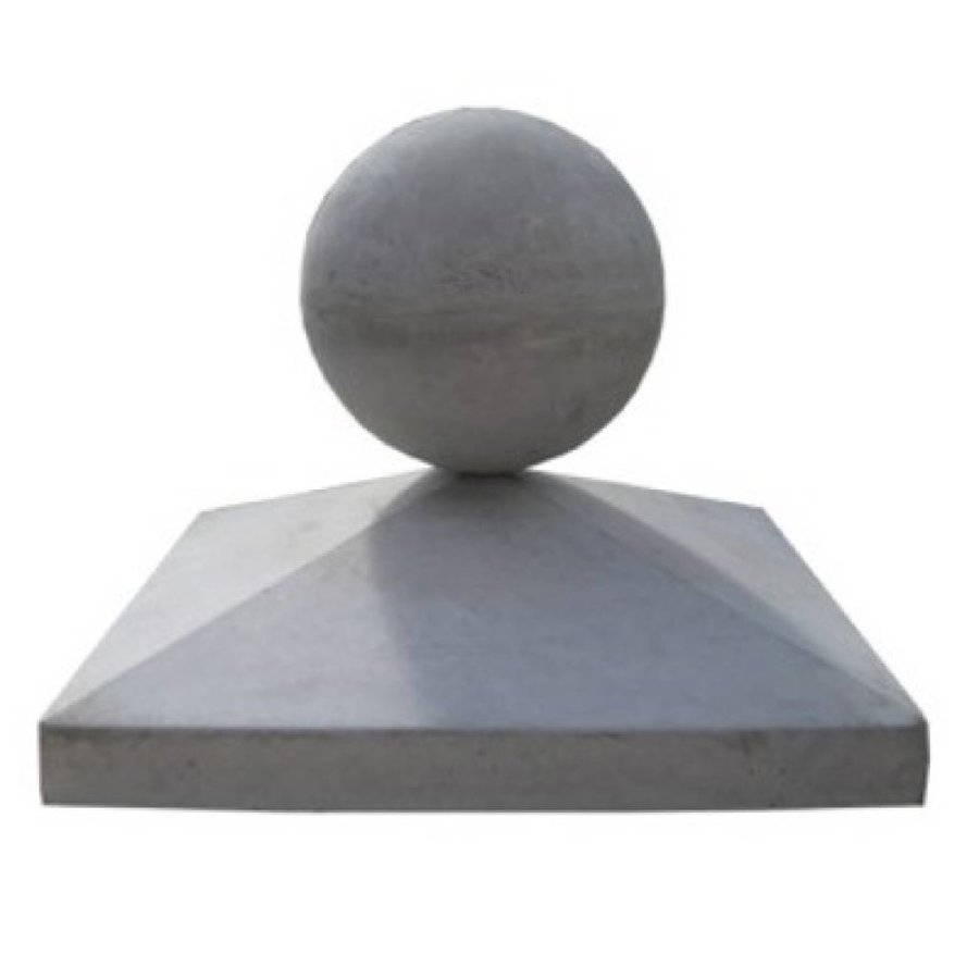 Paalmutsen 60x60cm met een bol 24cm