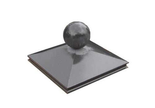 Paalmutsen sierrand 75x75cm met bol 24cm