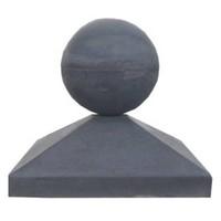 Paalmutsen 44x44cm met een bol 28cm