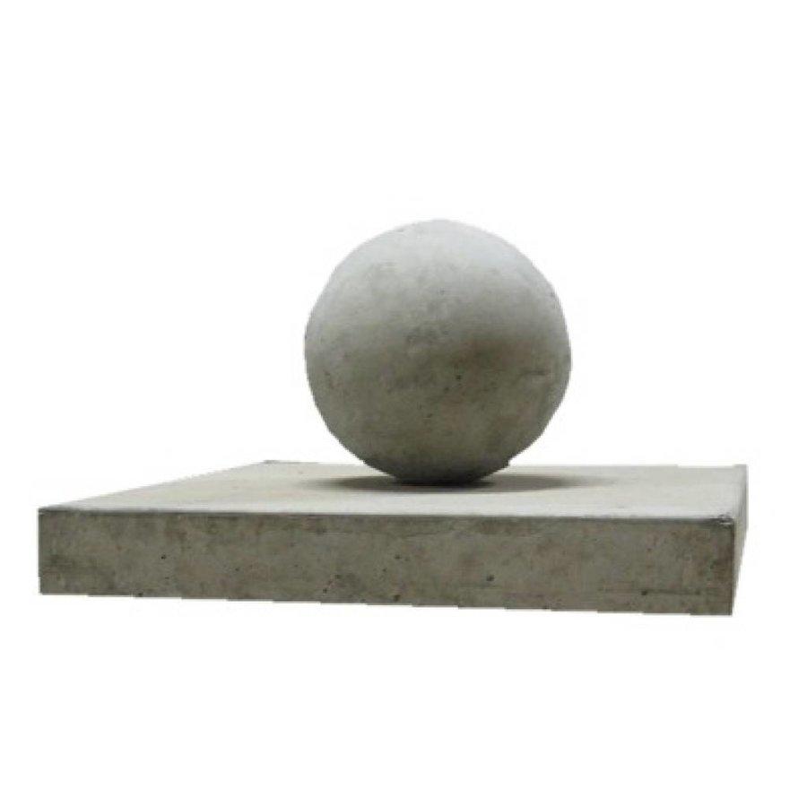 Paalmutsen vlak 44cmx44cm met een bol 28cm