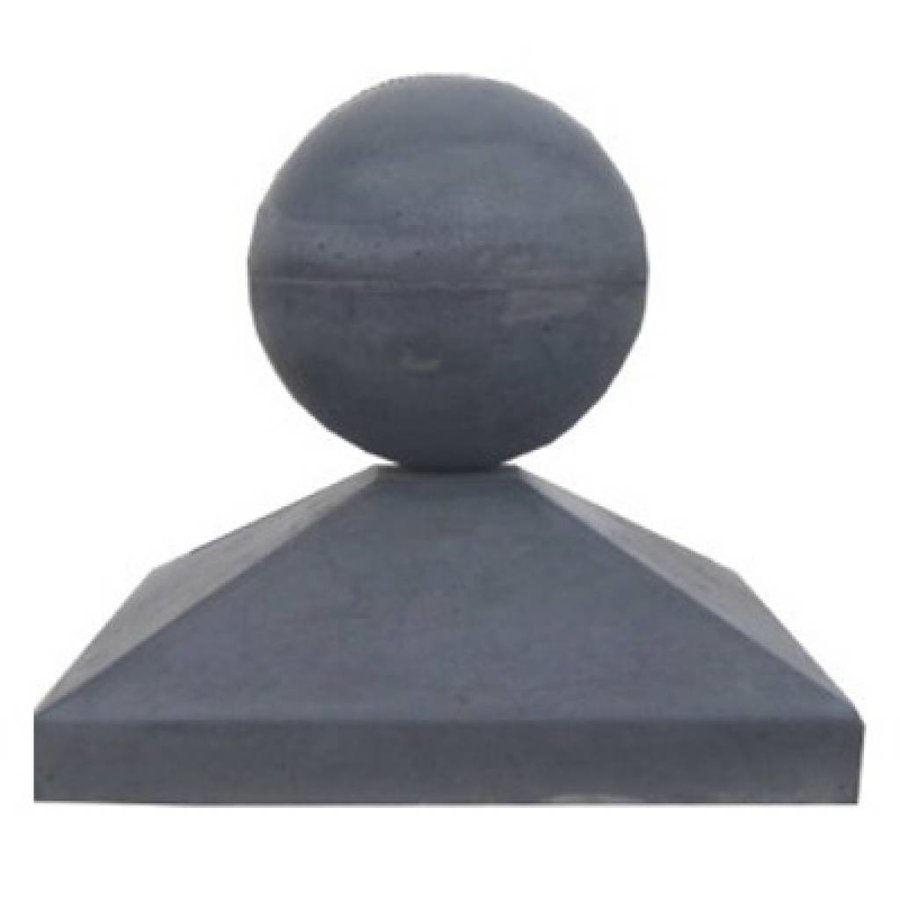 Paalmutsen 80x80cm met een bol 28cm