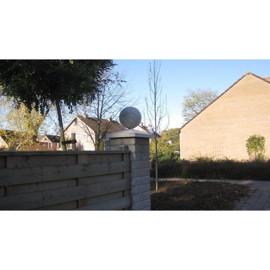Paalmutsen 35x24cm met een bol van 12cm