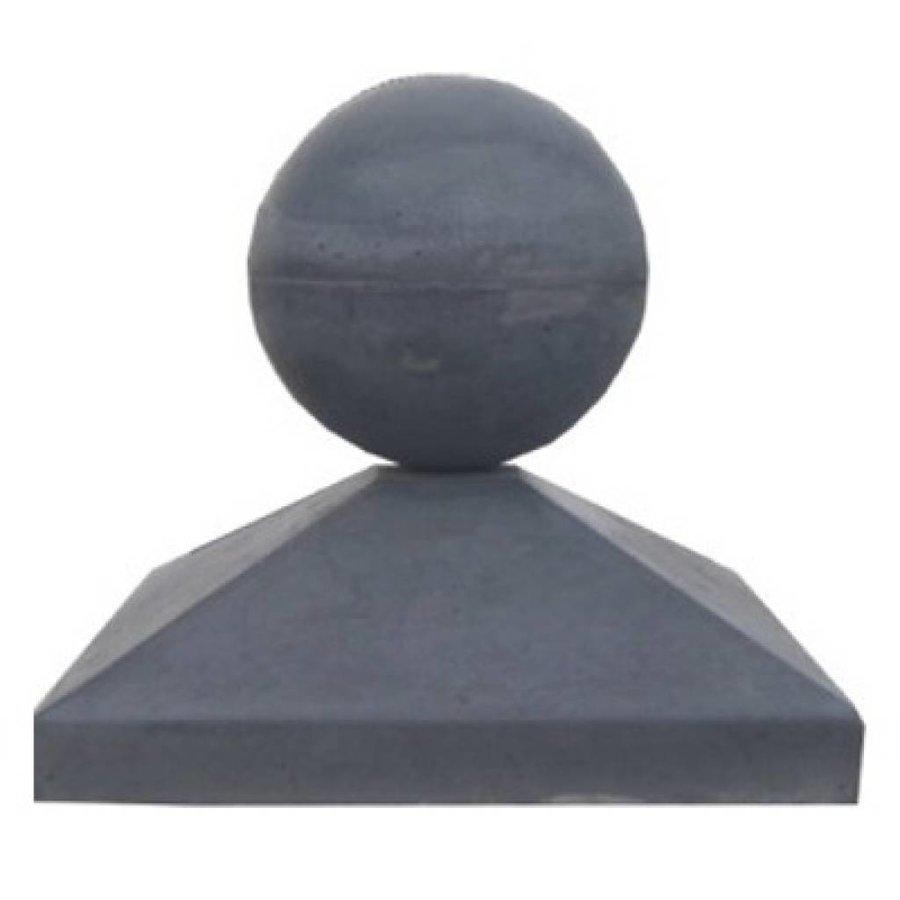 Paalmutsen 33x33cm met een bol 14cm