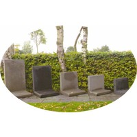 L-elementen 100 cm hoog grijs