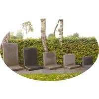 L-elementen grijs 100 cm hoog, 50 cm breed