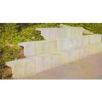 U-elementen beton 30cm grijs