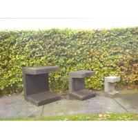 U-elementen beton 30cm antraciet
