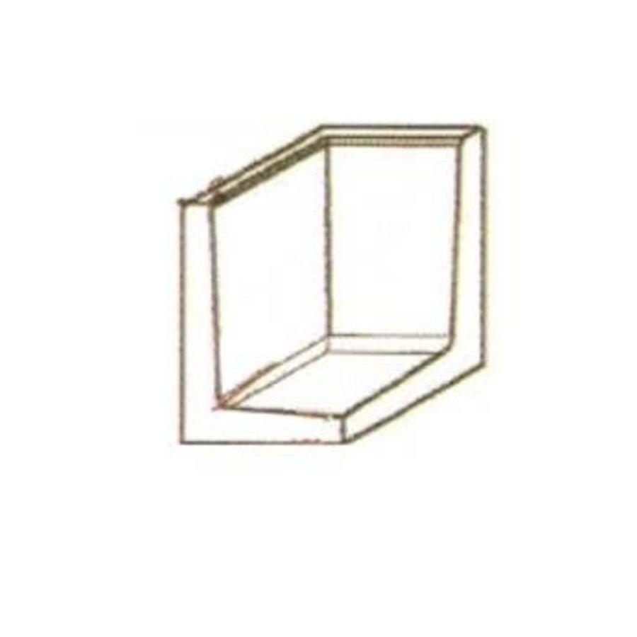 L-elementen hoek 100cm antraciet