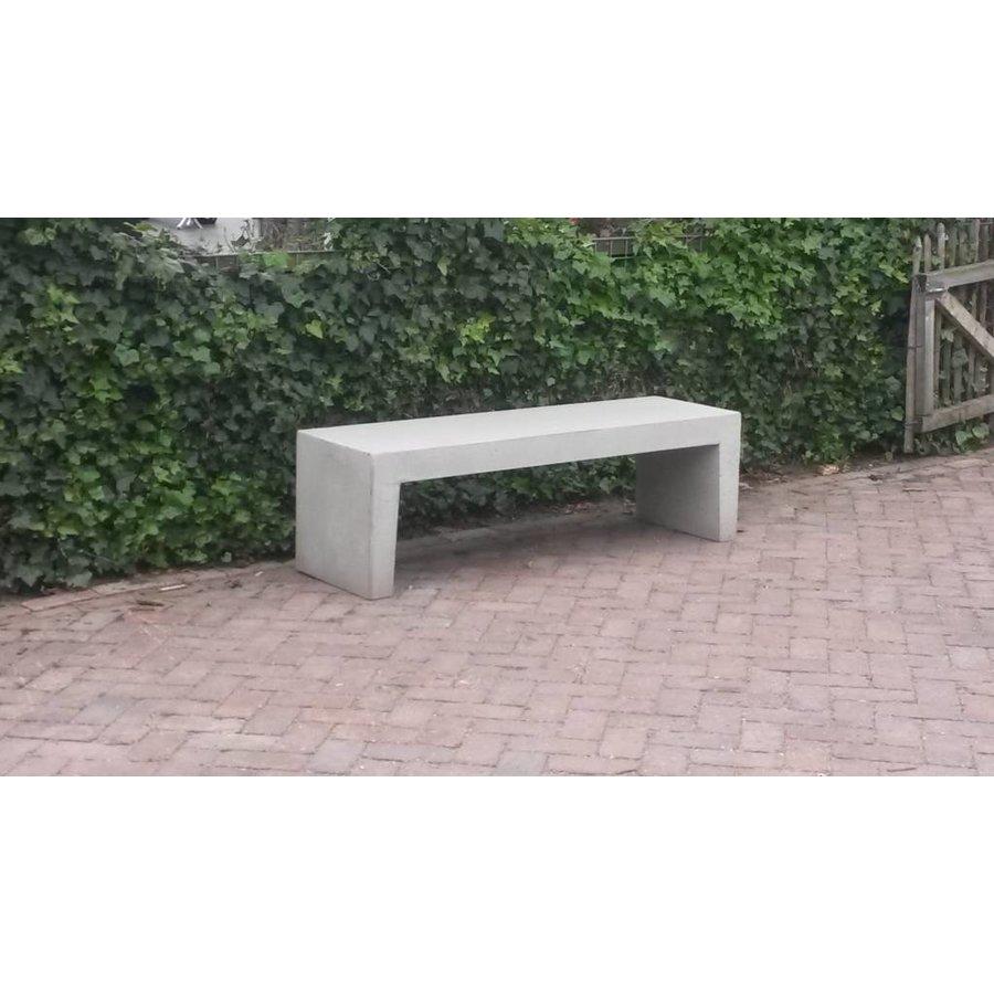 Betonnen Tuinbank wit grijs 150cm