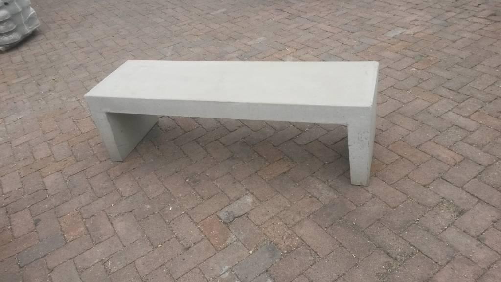 Betonnen Tuinbank wit grijs 150cm   Betondingen nl u00ae