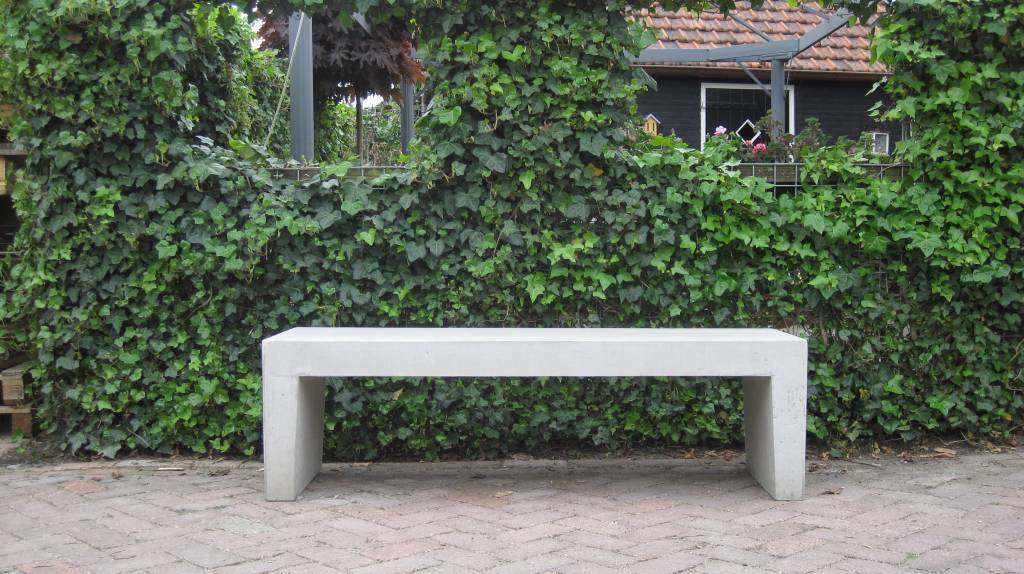 Betonnen Tuinbank wit grijs 180cm   Betondingen nl u00ae