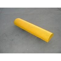 Varkensrug beton 1 kant rond geel