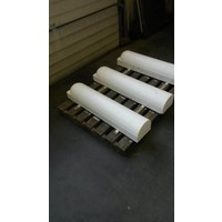 Stootbanden 1 kant rond wit