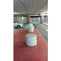 Betonnen poef Ø50cm, H60cm