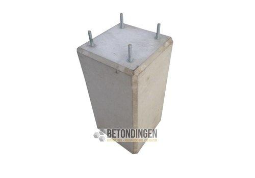 Prefab Betonpoeren 22x22x45cm met M10 (D)