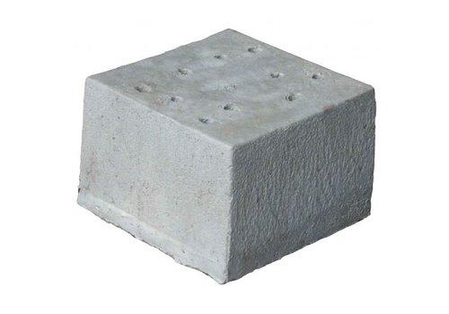 Prefab Betonpoer 30x30x20 cm met 10 gaten