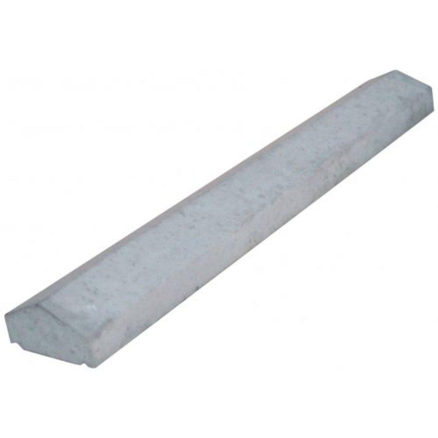 Muurafdekkers 2-zijdig, grijs 25cm x 100cm