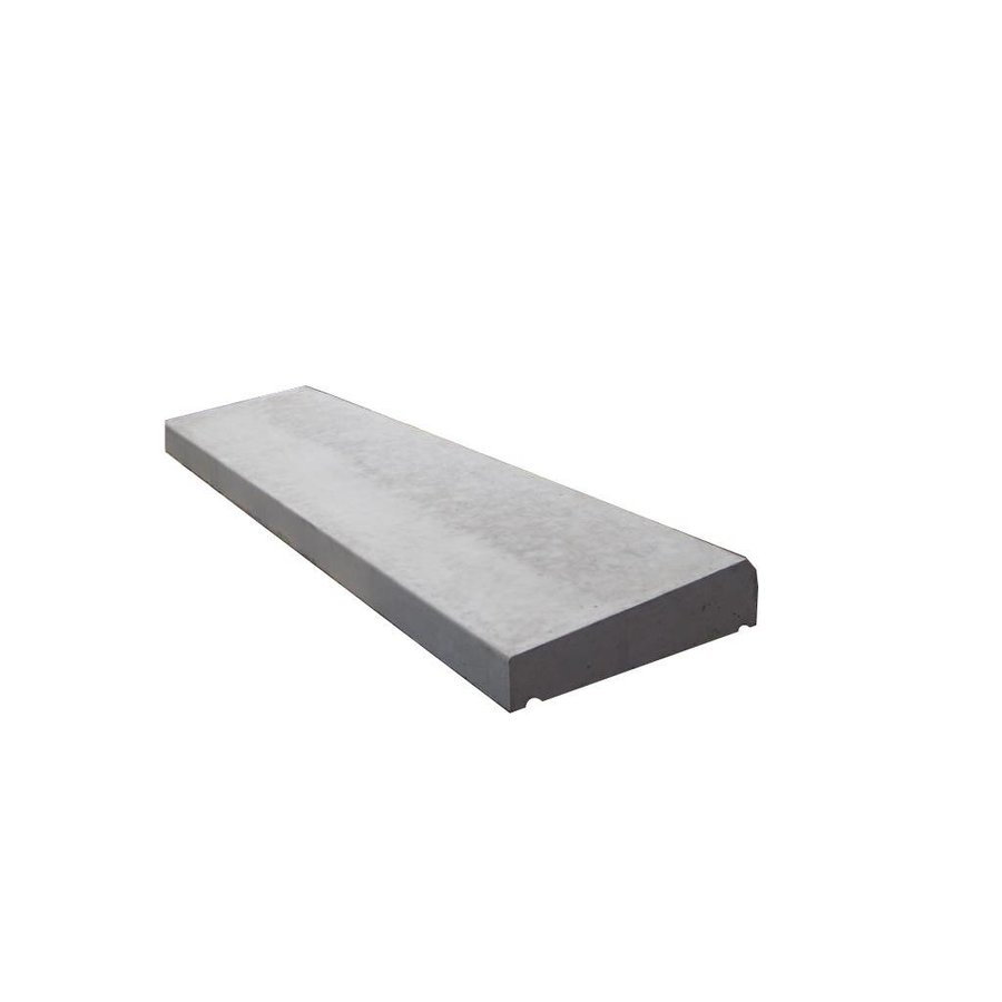 Muurafdekkers 1-zijdig, grijs 25cm x 100cm