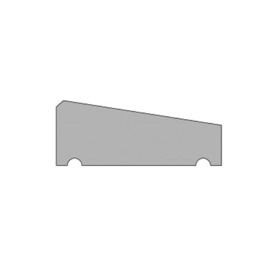 Muurafdekkers 1-zijdig, zwart gecoat 25cm x 100cm