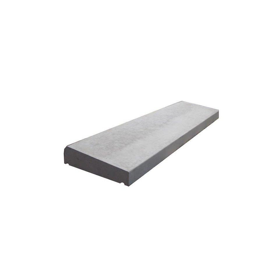 Muurafdekkers 1-zijdig, grijs 33cm x 100cm