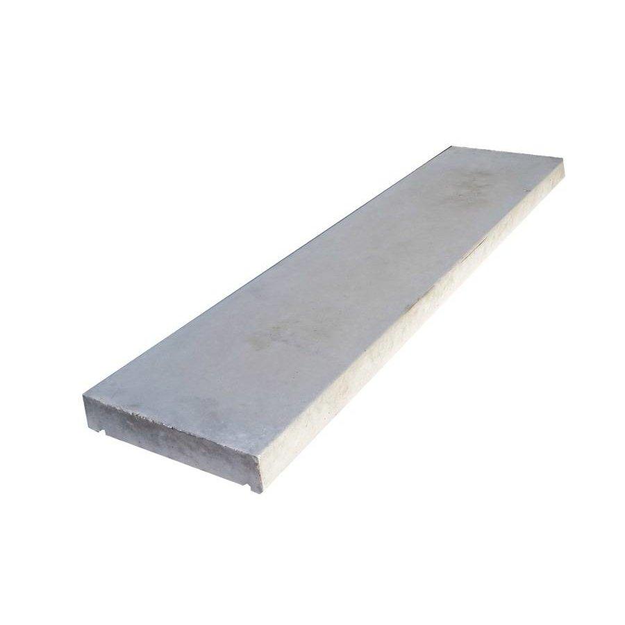Muurafdekkers vlak, grijs 25cm x 100cm