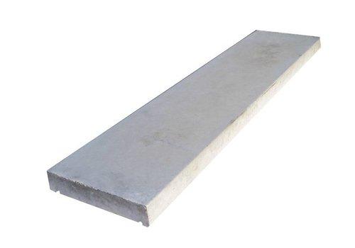 Muurafdekkers vlak, grijs 42cm x 100cm