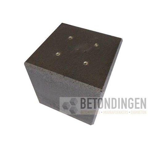 Betonpoer / funderingsblok 40x40x40 cm met schroefhuls M16