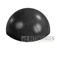 Parkeerbol zwart gecoat Ø 33cm