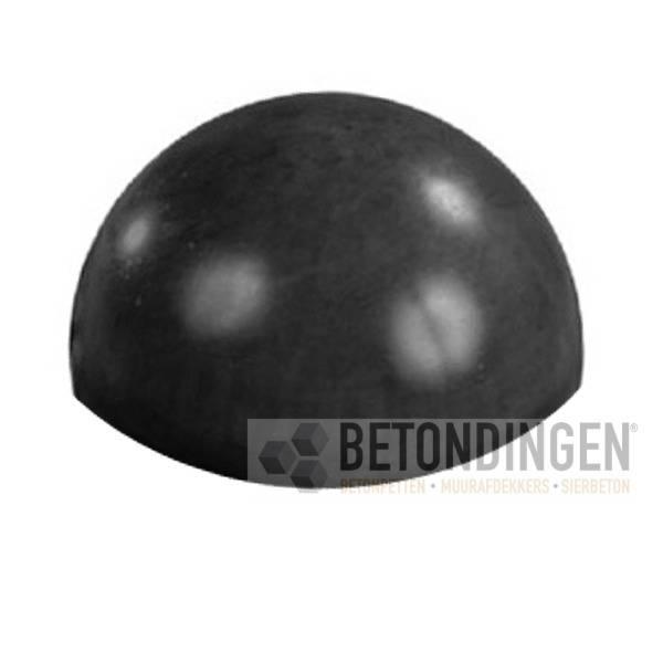 Parkeerbol zwart gecoat 50cm - Zwart gecoat ...