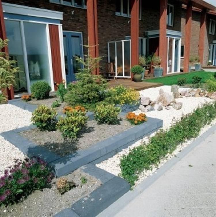 Een betonbiels, ideaal voor een plantenbak