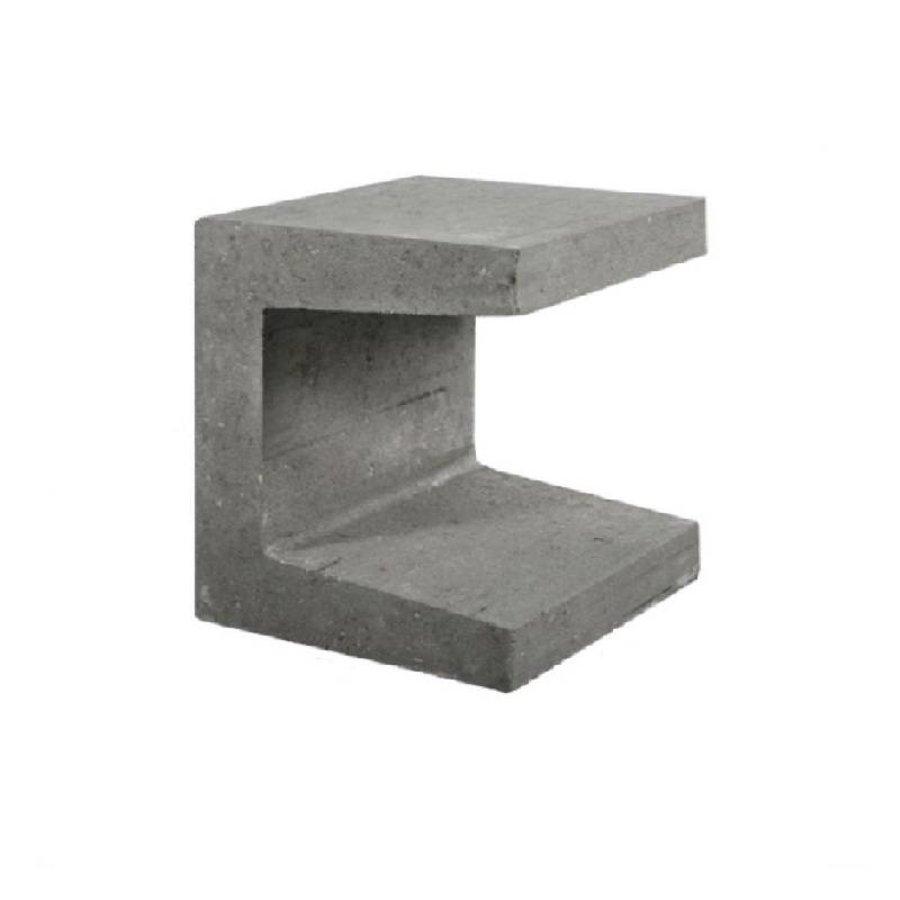 U-elementen profiel 40cm grijs