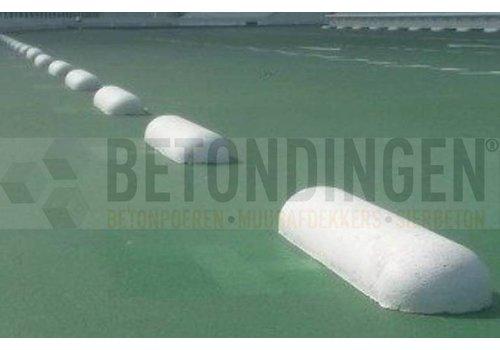 Varkensrug wit beton