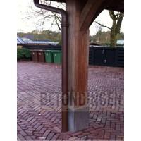 Betonpoeren met vellingkant en draadeind