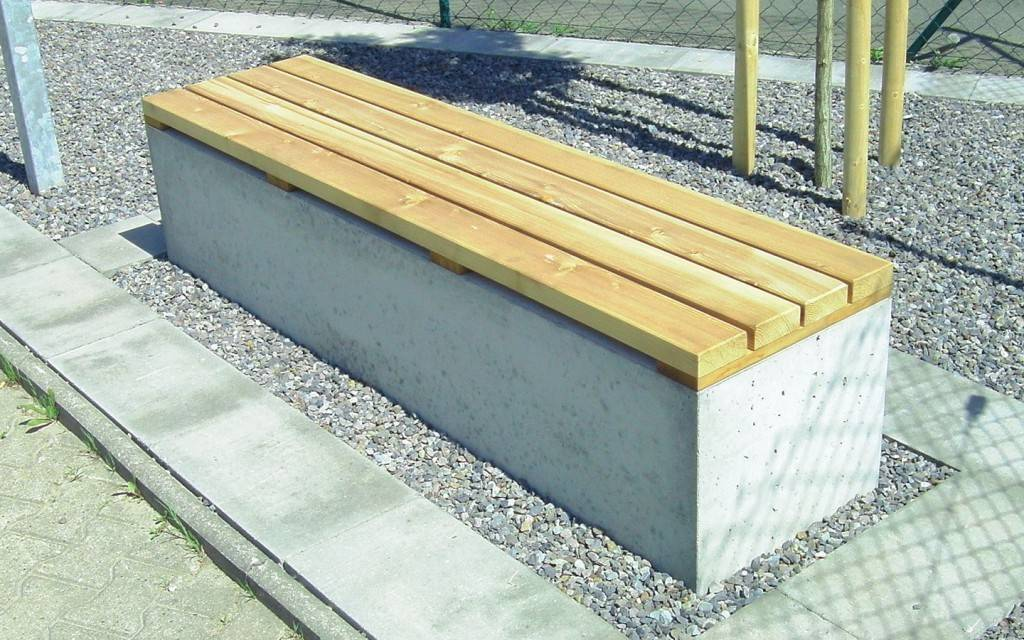 Combinatie van hout en beton, warm en tijdloos