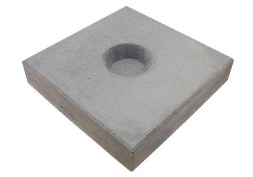 Knikkertegels grijs