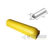Stootbanden 1 kant rond geel