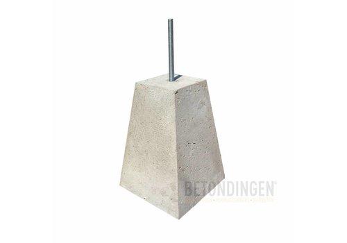 Prefab Betonpoeren 15x15x35 cm M16 (D) ingraafmodel