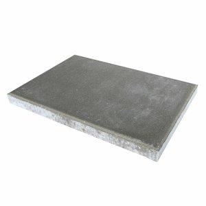 Betontegel grijs 40x60x5cm met facet