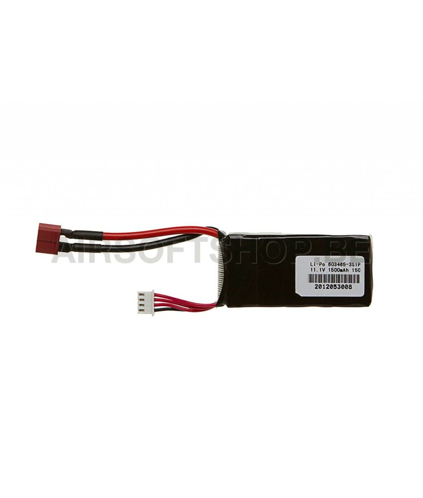 Pirate Arms LiPo 11.1V 1500mAh 15C Mini Type (Deans)