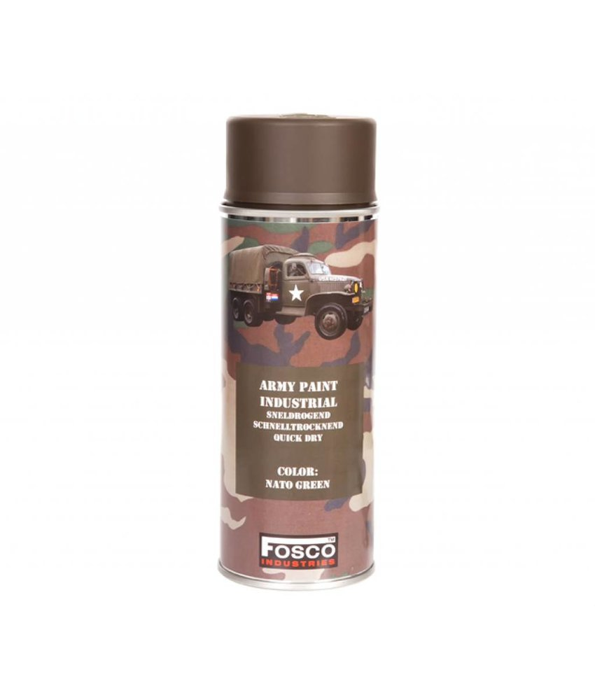 Fosco Spuitbus NATO Green 400ml