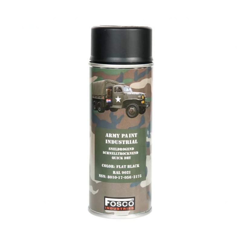 Fosco Spray Paint Flat Black 400ml