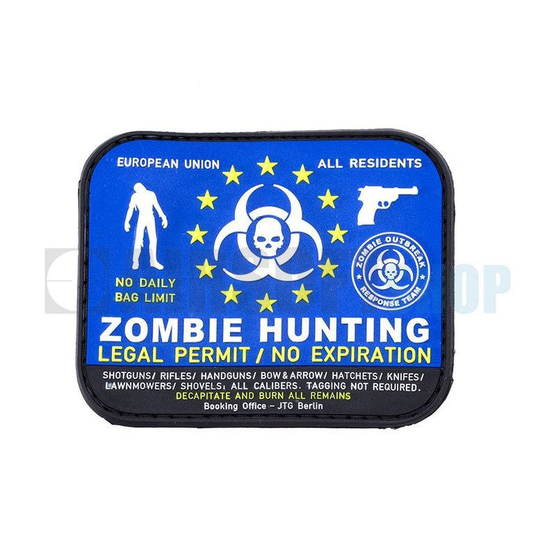 JTG Zombie Hunter PVC Patch (Color)