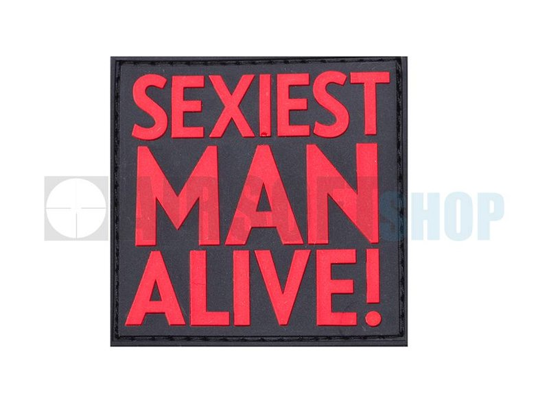 JTG Sexiest Man Alive PVC Patch (Red)
