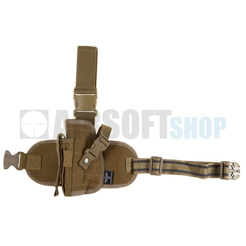 Invader Gear Dropleg Holster LEFT (Coyote Brown)